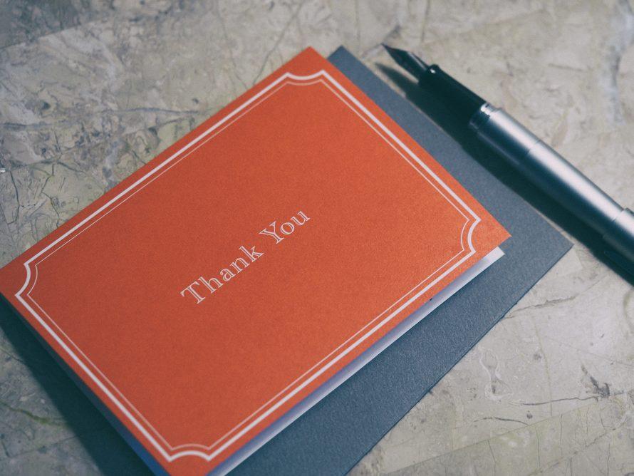 Honeymoon thank you notes